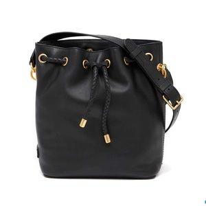 Cole Haan Benson 2 Leather Drawstring Bucket Bag